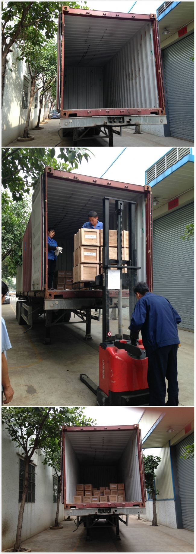 Helical gear motor reducer shipping to Indonesia