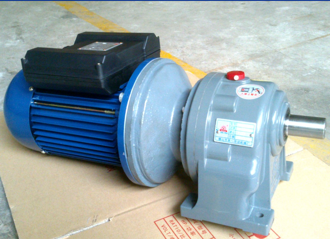 Ac Single Phase Helical Gear Motor With 2 Capacitor