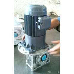 Helical gear motor combined with worm gear